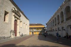 Plaza colonial, Cartagena, Colômbia Fotos de Stock