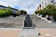 Plaza comm?morative de chantier naval naval de Puget Sound, Bremerton, Washington photographie stock