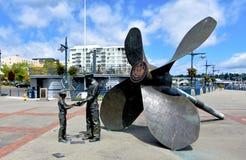Plaza commemorativa del cantiere navale navale di Puget Sound, Bremerton, Washington immagini stock libere da diritti