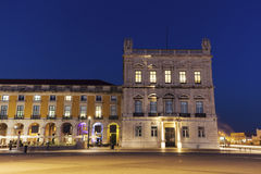 Plaza of Commerce in Lisbon. Lisbon, Portugal royalty free stock photography