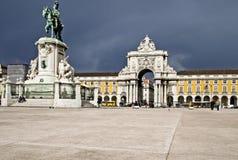 Plaza commerciale orageuse Photo libre de droits