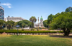 Plaza Congreso and National Congress - Buenos Aires, Argentina Stock Photography