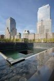 Plaza conmemorativa, opinión de la fuente, Nueva York Fotografía de archivo