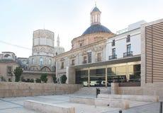 Plaza contemporánea e histórica, Valencia Imágenes de archivo libres de regalías