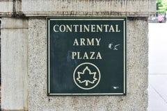 Plaza continental do exército, New York fotos de stock royalty free