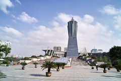 Plaza culturale del lago ad ovest Hangzhou immagini stock libere da diritti