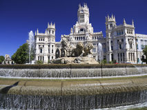 The Plaza Cybeles in Madrid, Spain royalty free stock photo