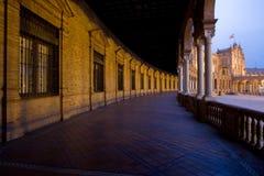 Plaza D'Espagna en la oscuridad Foto de archivo libre de regalías