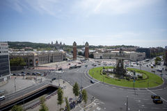 Plaza d'Espanya View From Above Stock Photos