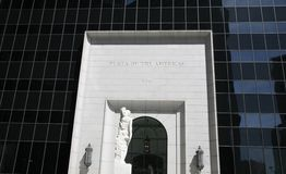 Plaza da entrada de Americas Foto de Stock