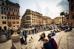 Plaza da Espanha em Roma Imagens de Stock Royalty Free