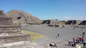 Plaza da pirâmide de México Fotos de Stock Royalty Free