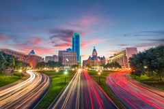 Plaza Dallas le Texas de Dealey photographie stock libre de droits