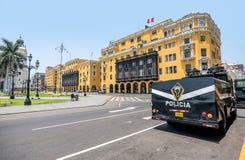 Plaza de利马,秘鲁阿玛斯  库存照片