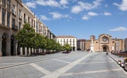 Plaza de圣诞老人特里萨在阿维拉 库存照片