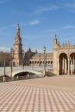 plaza de西班牙塞维利亚 免版税库存图片