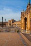 Plaza de西班牙复合体,塞维利亚,西班牙看法  库存图片