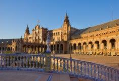 plaza de西班牙,塞维利亚,西班牙 免版税库存照片