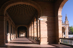 plaza de西班牙 塞维利亚 免版税库存照片