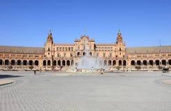 Plaza de西班牙& x28;Spain& x29正方形;在塞维利亚 免版税库存图片