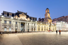 Plaza de阿玛斯在圣地亚哥de智利 免版税库存图片