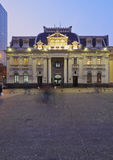 Plaza de阿玛斯在圣地亚哥de智利 免版税库存照片