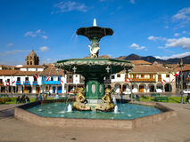 plaza de阿玛斯在库斯科 库存照片