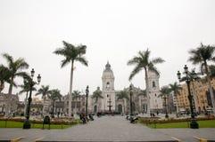 Plaza de阿玛斯-利马-秘鲁 库存照片