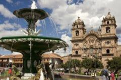 plaza de阿玛斯-库斯科省-秘鲁 图库摄影