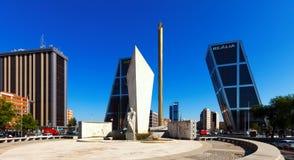 Plaza de Καστίλλη στη Μαδρίτη, Ισπανία Στοκ φωτογραφίες με δικαίωμα ελεύθερης χρήσης