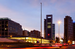 Plaza de Καστίλλη στη Μαδρίτη, Ισπανία Στοκ φωτογραφία με δικαίωμα ελεύθερης χρήσης