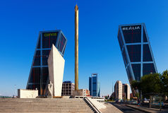 Plaza de Καστίλλη στη Μαδρίτη Στοκ φωτογραφία με δικαίωμα ελεύθερης χρήσης