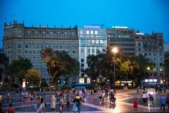 Plaza de καταλωνία, Βαρκελώνη, Ισπανία Στοκ φωτογραφία με δικαίωμα ελεύθερης χρήσης