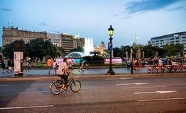 Plaza de καταλωνία στη Βαρκελώνη Στοκ εικόνα με δικαίωμα ελεύθερης χρήσης
