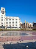 Plaza de καταλωνία της Βαρκελώνης Placa de Catalunya Στοκ Εικόνες