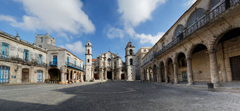 Plaza de Λα Catedral Αβάνα, Κούβα Στοκ φωτογραφία με δικαίωμα ελεύθερης χρήσης