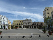 Plaza de Λα Catedral, παλαιά Αβάνα Στοκ Φωτογραφίες