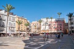 Plaza de Λα Catedral σε Caidz, Ισπανία Στοκ Φωτογραφίες