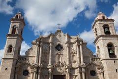 Plaza de Λα Catedral στην παλαιά Αβάνα, Κούβα Στοκ Εικόνες
