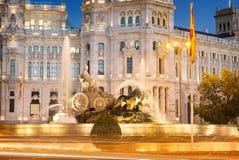 Plaza de Λα Cibeles Μαδρίτη Στοκ Φωτογραφία