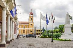 Plaza de Λα Independencia με τον καθεδρικό ναό της Γρανάδας σε Nicaragu Στοκ φωτογραφίες με δικαίωμα ελεύθερης χρήσης