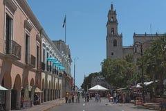Plaza de Λα independencia το φεστιβάλ Μέριντα ο EN Domingo, Μέριντα, Μεξικό οδών Στοκ Φωτογραφίες
