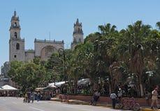 Plaza de Λα independencia το φεστιβάλ Μέριντα ο EN Domingo, Μέριντα, Μεξικό οδών Στοκ εικόνα με δικαίωμα ελεύθερης χρήσης