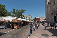 Plaza de Λα independencia το φεστιβάλ Μέριντα ο EN Domingo, Μέριντα, Μεξικό οδών Στοκ Φωτογραφία
