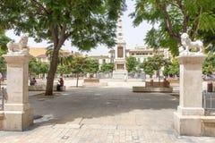 Plaza de Λα Merced, Μάλαγα Στοκ εικόνα με δικαίωμα ελεύθερης χρήσης