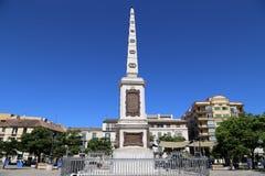 Plaza de Λα Merced στη Μάλαγα, Ανδαλουσία, Ισπανία Στοκ φωτογραφίες με δικαίωμα ελεύθερης χρήσης