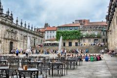 Plaza de Λα Quintana, Σαντιάγο de Compostela Στοκ Φωτογραφία