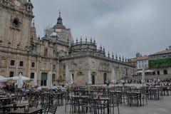 Plaza de Λα Quintana, Σαντιάγο de Compostela Στοκ Εικόνες