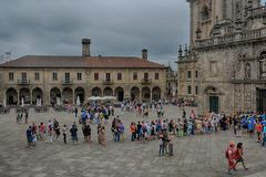 Plaza de Λα Quintana, Σαντιάγο de Compostela Στοκ εικόνα με δικαίωμα ελεύθερης χρήσης