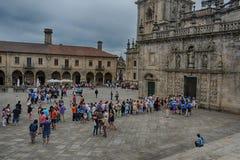 Plaza de Λα Quintana, Σαντιάγο de Compostela Στοκ εικόνες με δικαίωμα ελεύθερης χρήσης